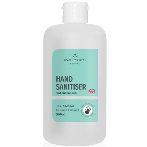 Hand Sanitiser Rub Unfragranced 70% Alcohol Wax Lyrical 500ml